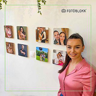 családi képek a falra Fotóblokk